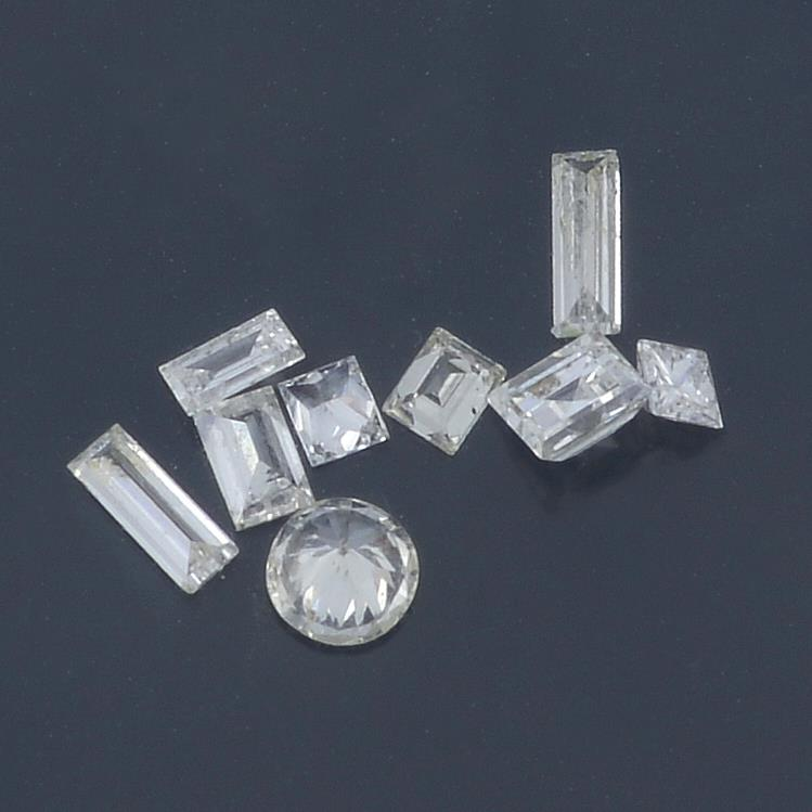 A selection of vari-shape diamonds, weighing 0.78ct total. - Image 2 of 2