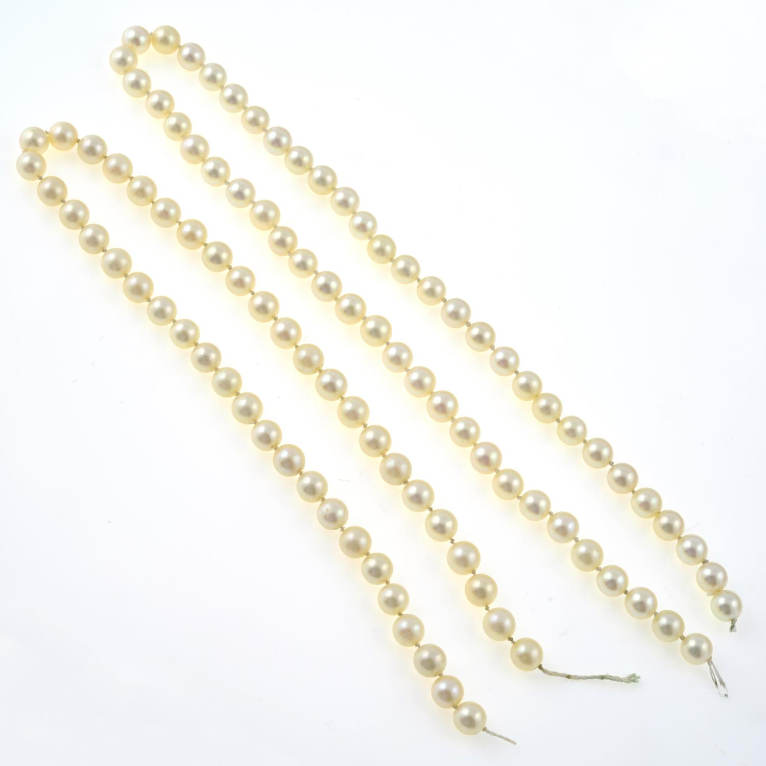 Selection of cultured pearls, - Image 2 of 3