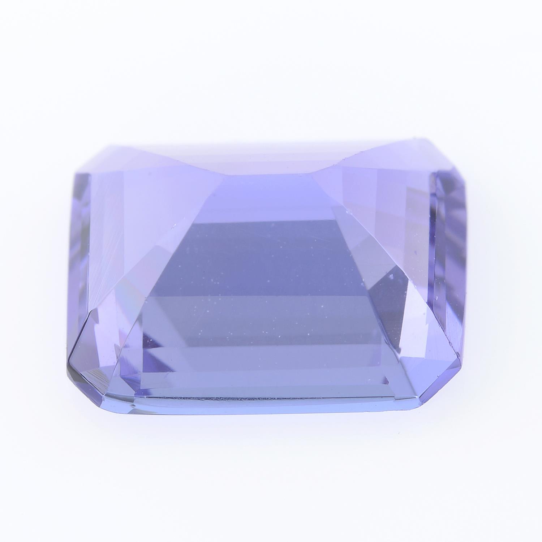 A rectangular shape tanzanite, weighing 4.07ct. - Image 2 of 2