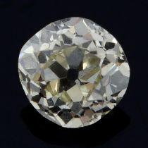An old-cut diamond weighing 0.42ct.