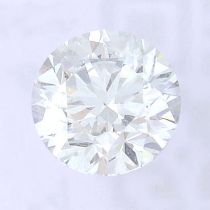A brilliant cut diamond, weighing 0.50ct, measuring 4.94 by 4.97 by 3.2mms.