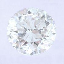 A brilliant cut diamond, weighing 0.37ct.