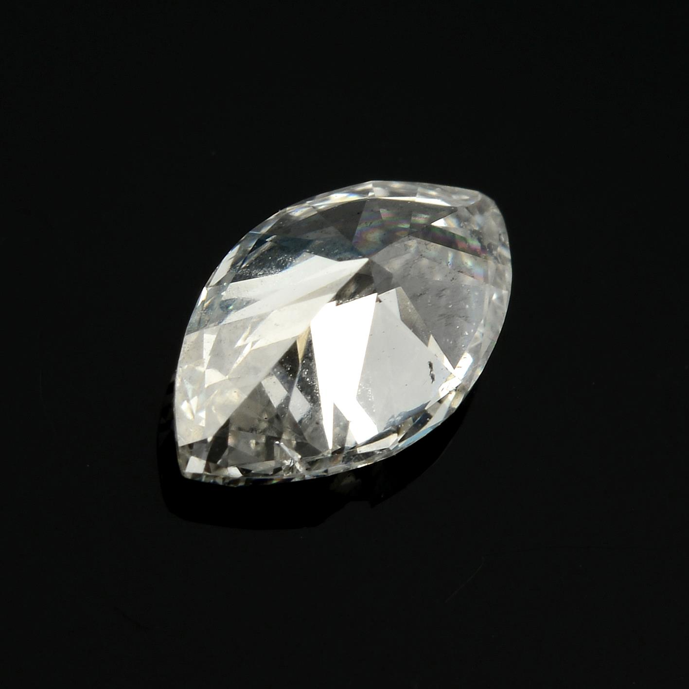 A marquise shape diamond, weighing 0.49ct. - Image 2 of 2