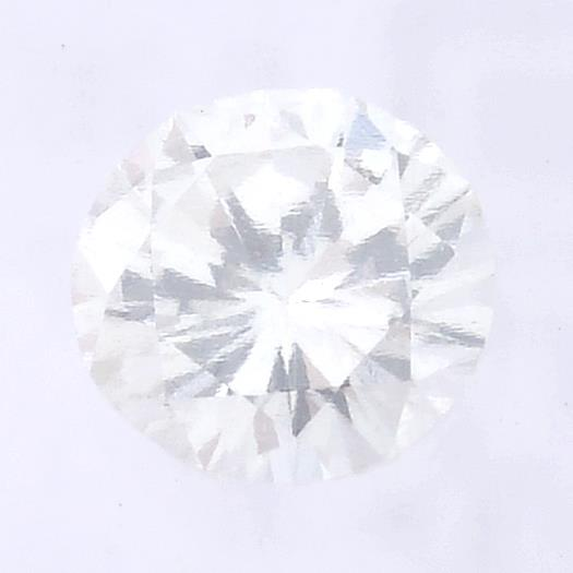 A brilliant cut diamond, weighing 0.26ct, measuring 4.17 by 4.24 by 2.46mms.