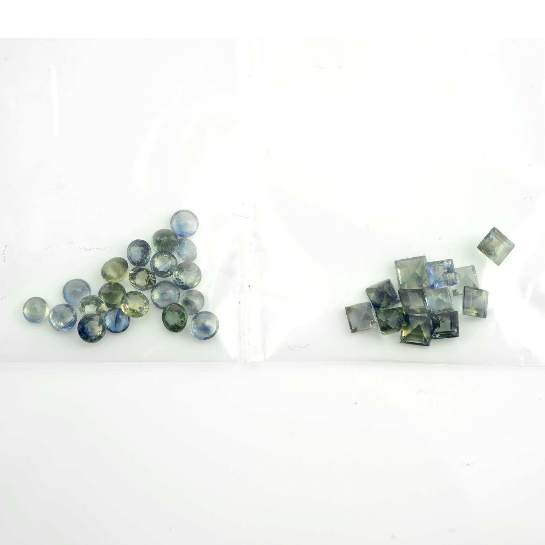 A selection of vari-shape, vari-hue sapphires. - Image 2 of 2