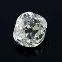 A old mine-cut diamond, weighing 0.67ct.
