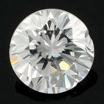 A brilliant-cut diamond, weighing 0.29ct.