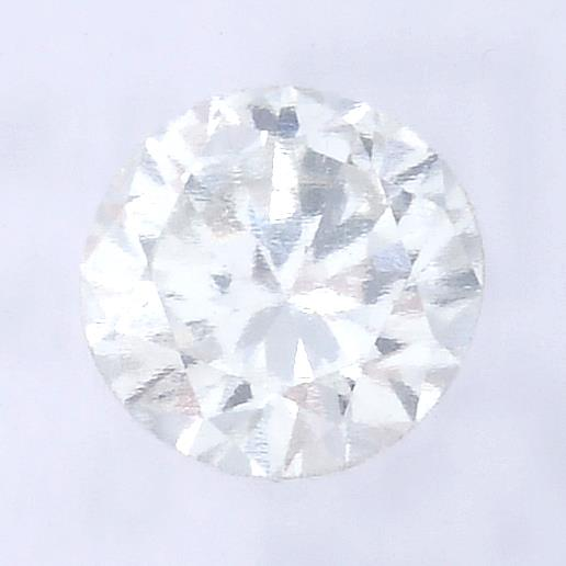 A brilliant cut diamond, weighing 0.30ct, measuring 4.36 by 4.46 by 2.53mms.