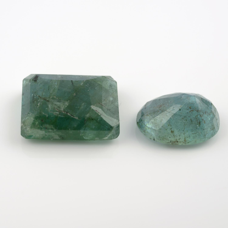 Two vari-shape emeralds, weighing 10.60ct. - Image 2 of 5