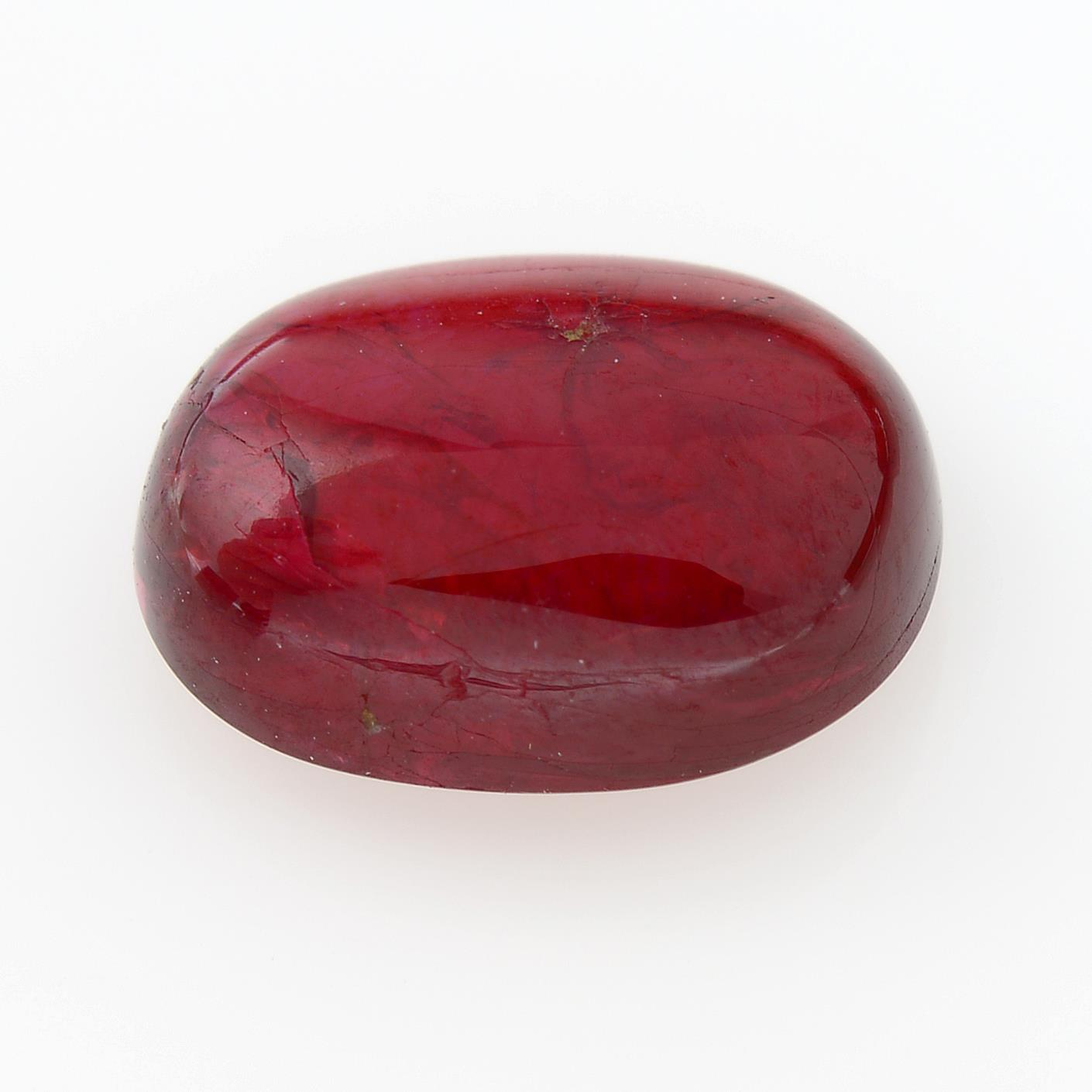 An oval-shape red spinel. - Image 2 of 2