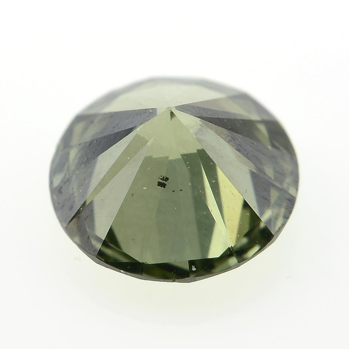 A brilliant cut 'green' diamond, weighing 0.56ct. - Image 2 of 2