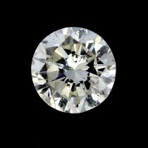 A brilliant cut diamond weighing 0.25ct.