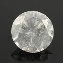 A brilliant cut diamond.