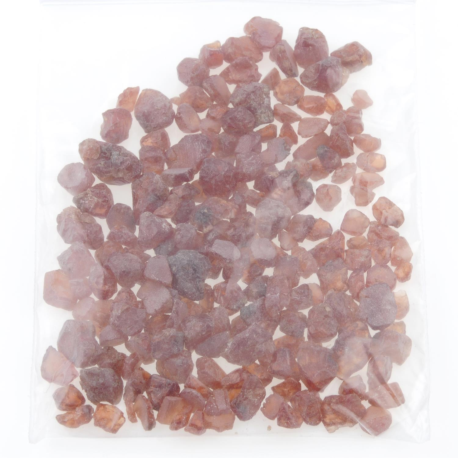 A selection of rough hessonite garnet. - Image 2 of 2