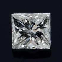 A square shape diamond weighing 0.29ct.