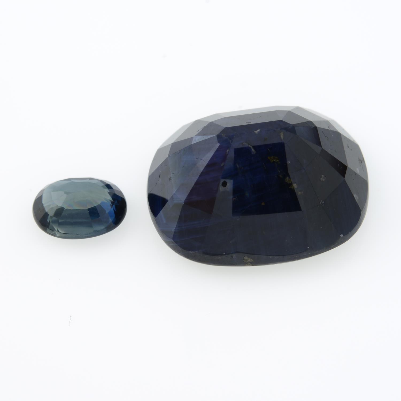 Two vari-shape sapphires, - Image 2 of 4