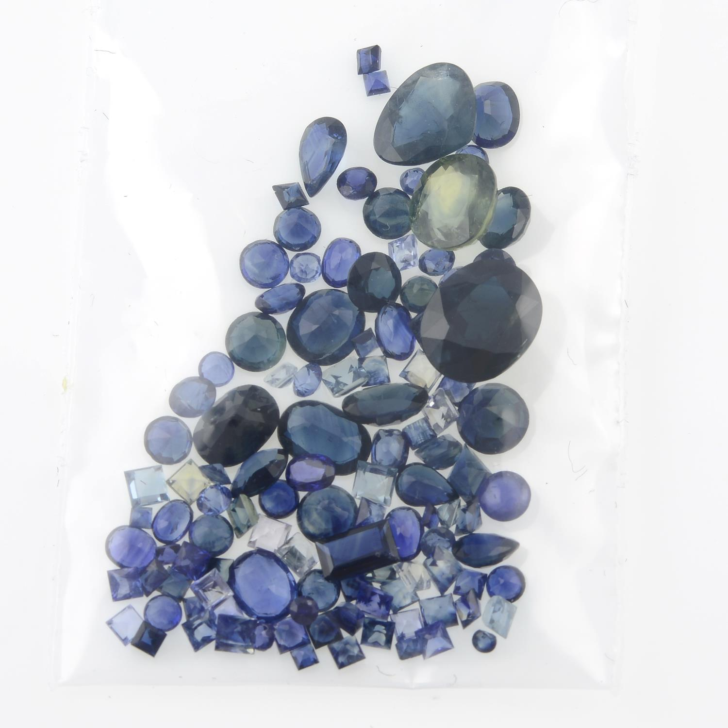 A selection of vari-shape sapphires, total weight 35.98cts. - Image 2 of 2