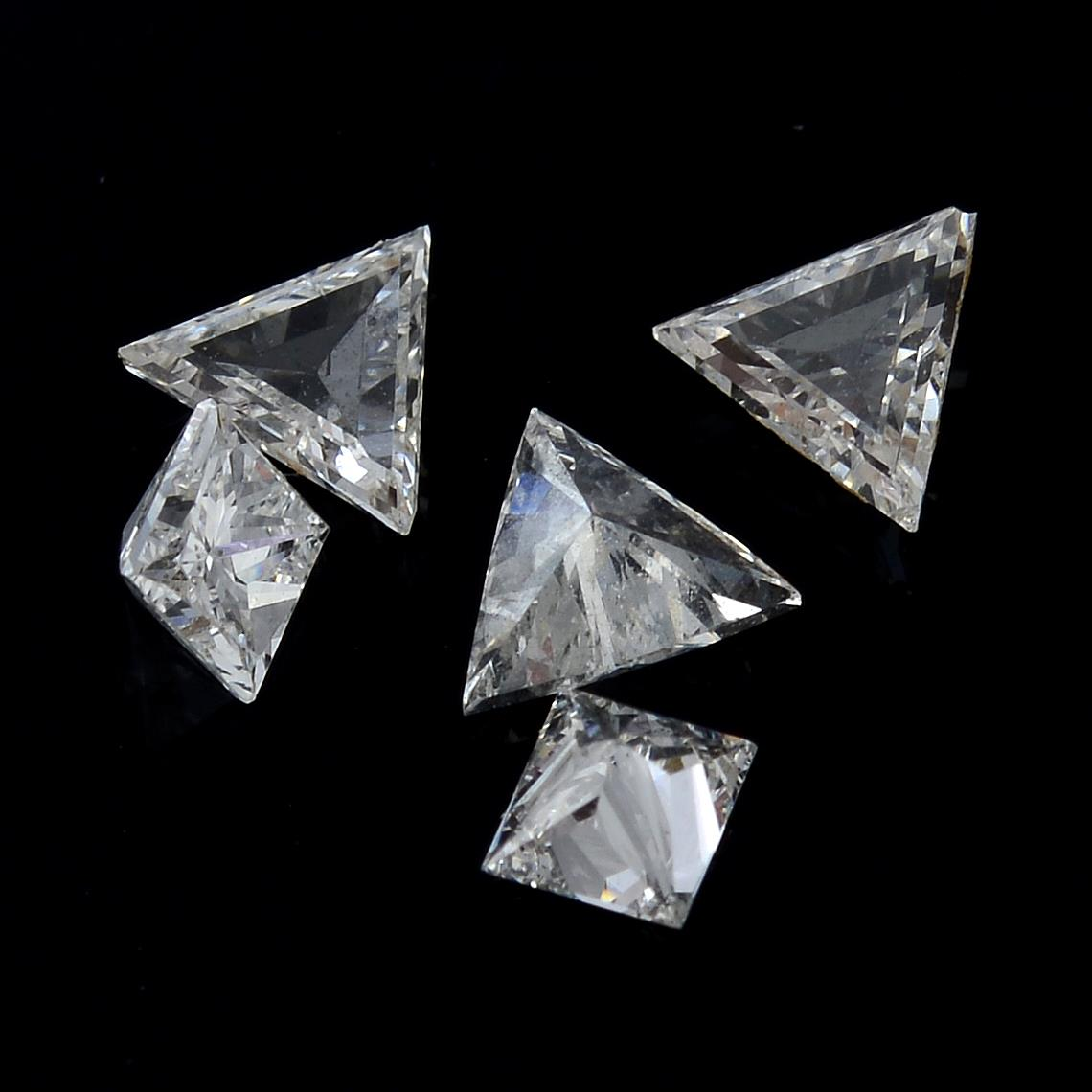 A selection of vari-shape diamonds, weighing 0.78ct total.