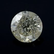 A brilliant cut diamond weighing 0.28ct.