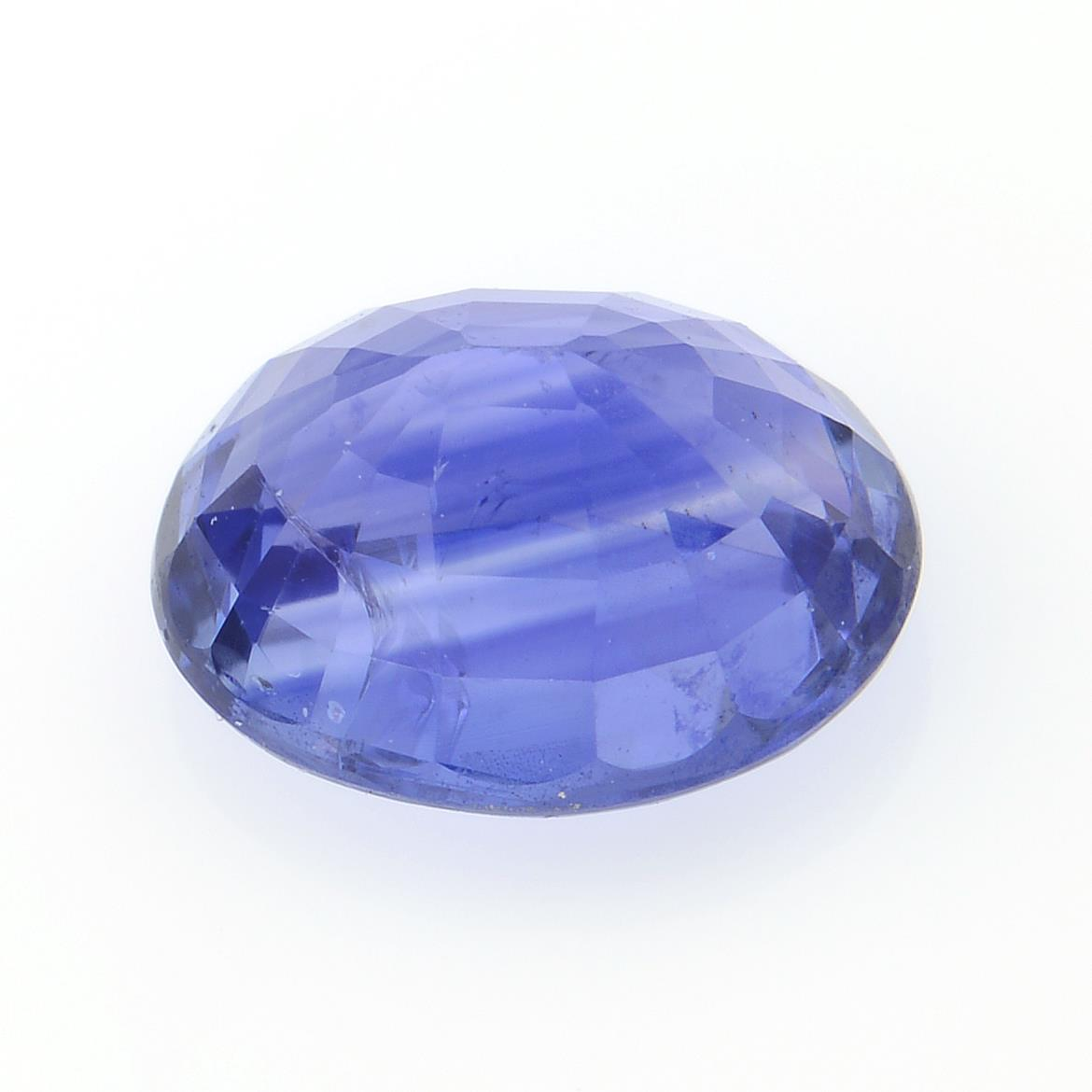An oval-shape sapphire, weighing 1.48cts. - Image 2 of 2