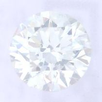 A brilliant cut diamond, weighing 0.34ct, measuring 4.36 by 4.4 by 2.8mms.