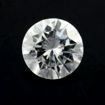 A brilliant cut diamond, weighing 1.32cts, Approximate dimensions 7.3 by 7.3 by 4.2mms.