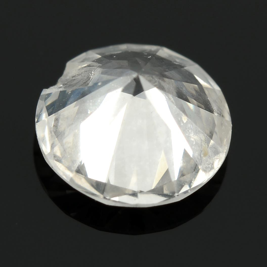 A brilliant cut diamond, weighing 0.42ct. - Image 2 of 2