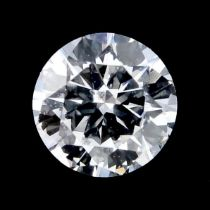 A brilliant cut diamond weighing 0.21ct.