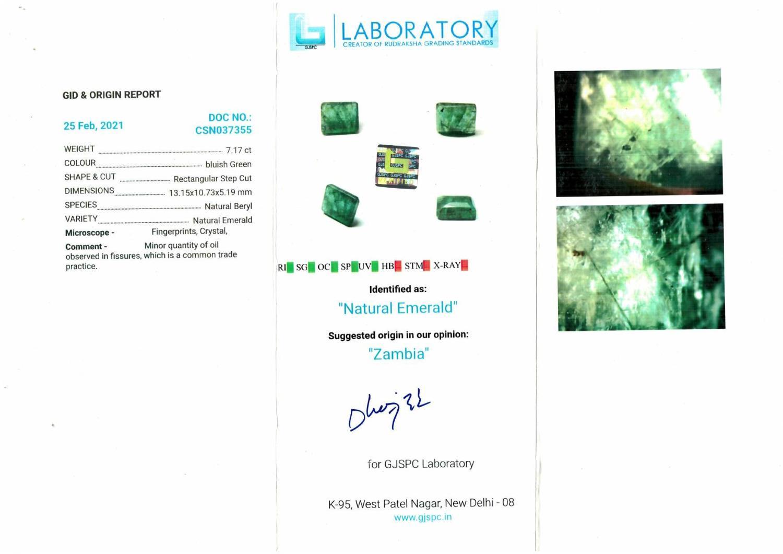 Two vari-shape emeralds, weighing 10.60ct. - Image 3 of 5