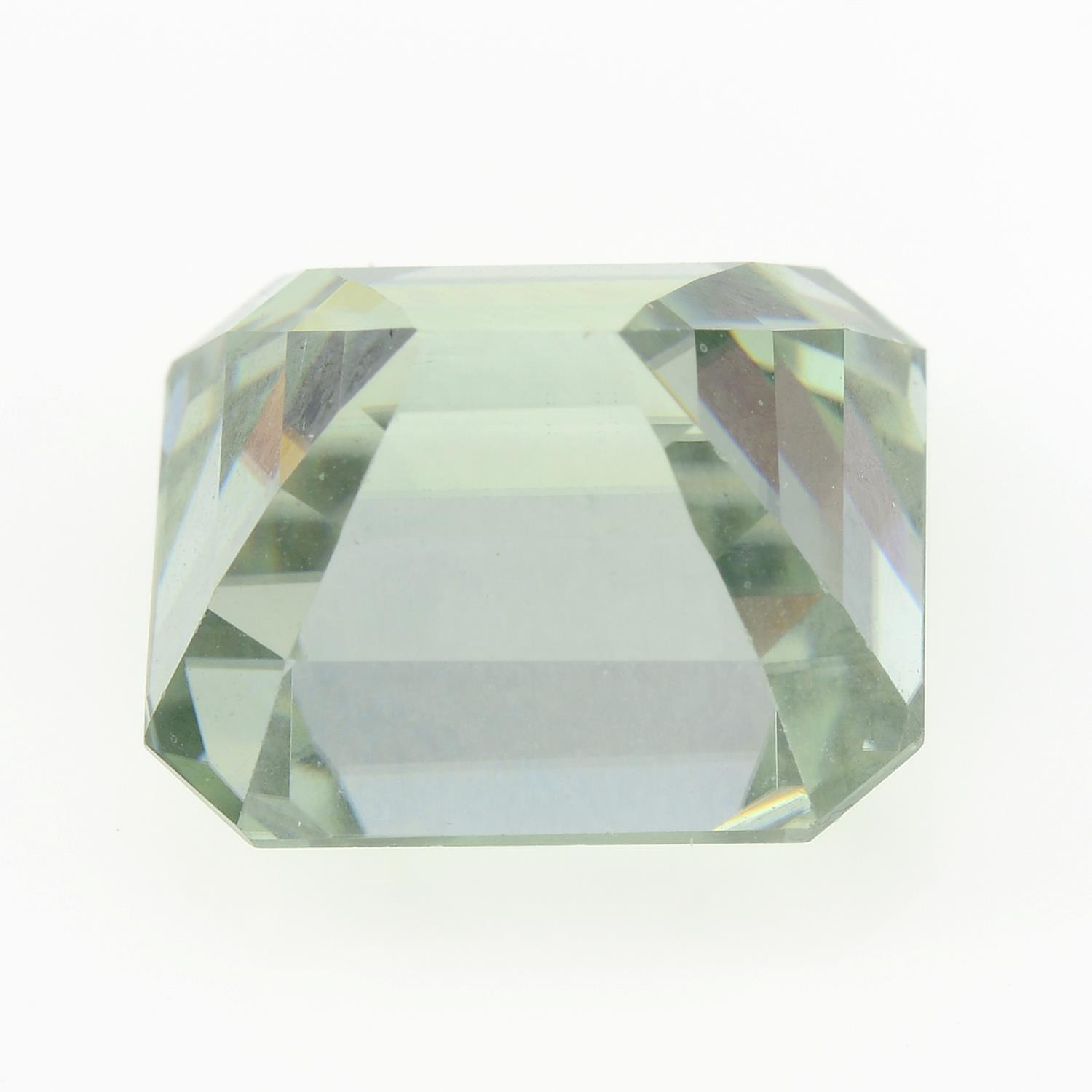 A rectangular-shape synthetic moissanite. - Image 2 of 2