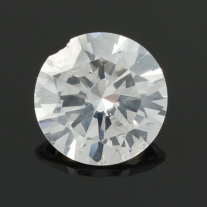 A brilliant cut diamond, weighing 0.42ct.