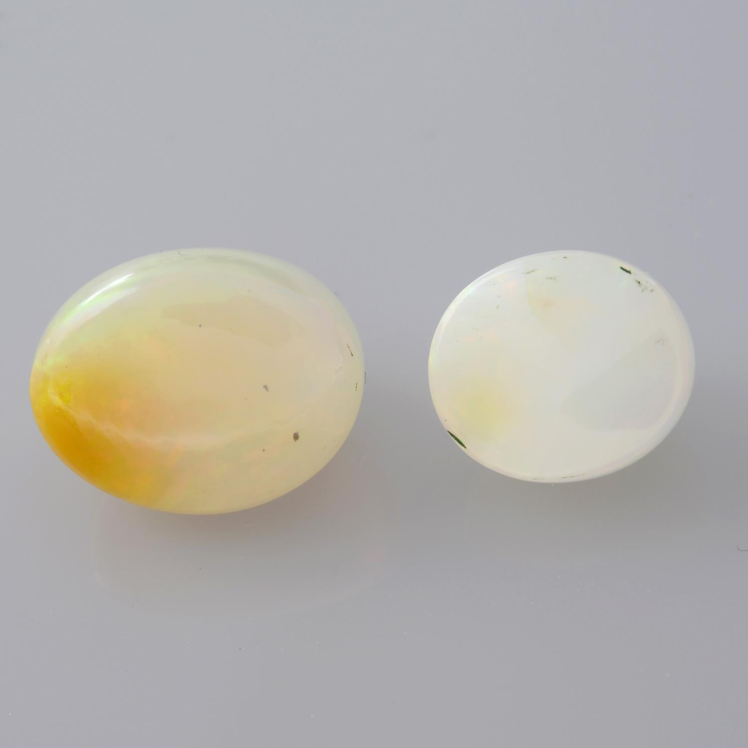Two oval shape opals, weighing 11.15ct. - Image 2 of 2