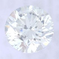 A brilliant cut diamond, weighing 0.50ct, measuring 4.98 by 5.01 by 3.23mms.