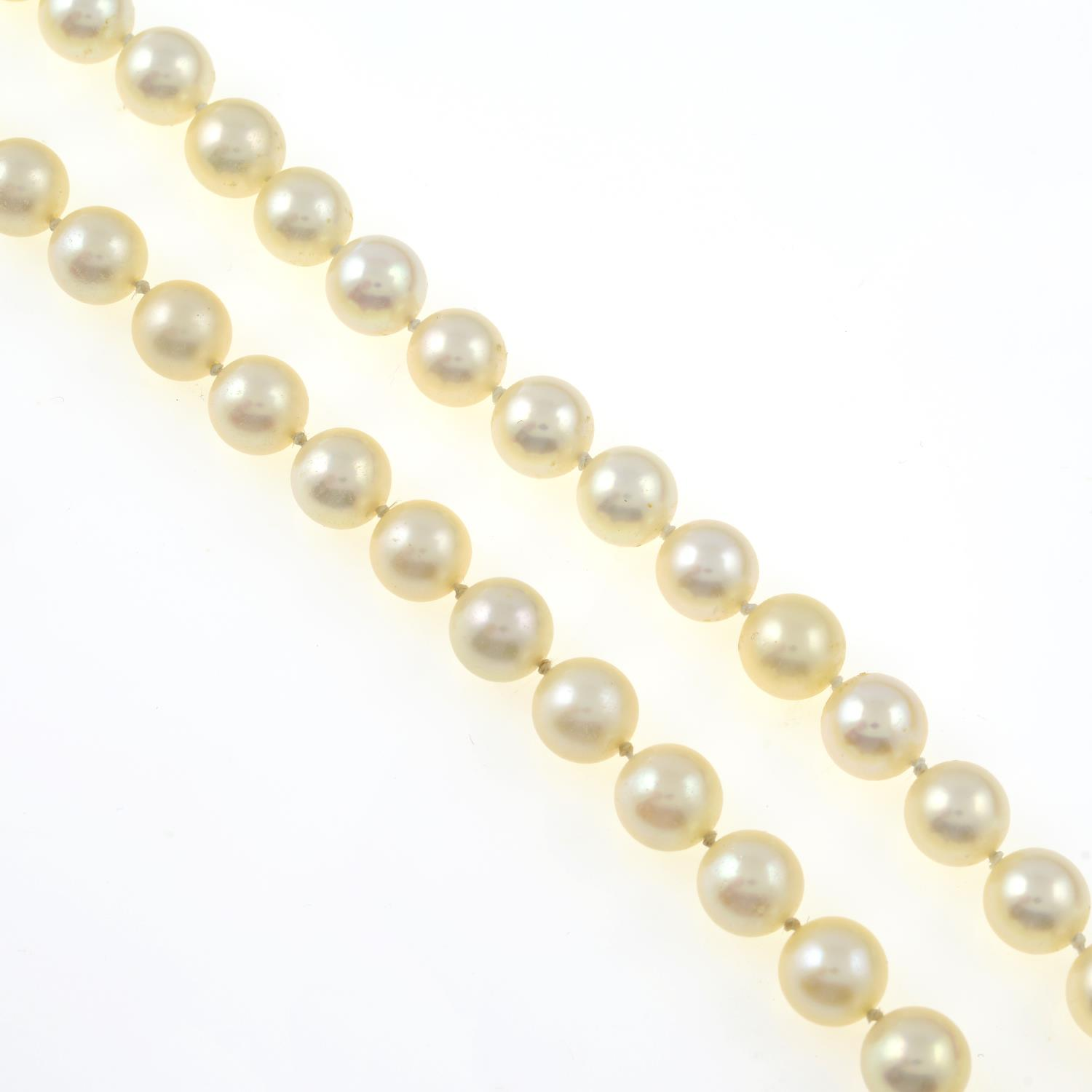 Selection of cultured pearls,