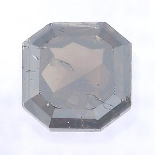 A rectangular shape fancy dark brown diamond, weighing 0.64ct.