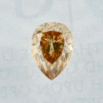A pear shape diamond, weighing 0.40ct.