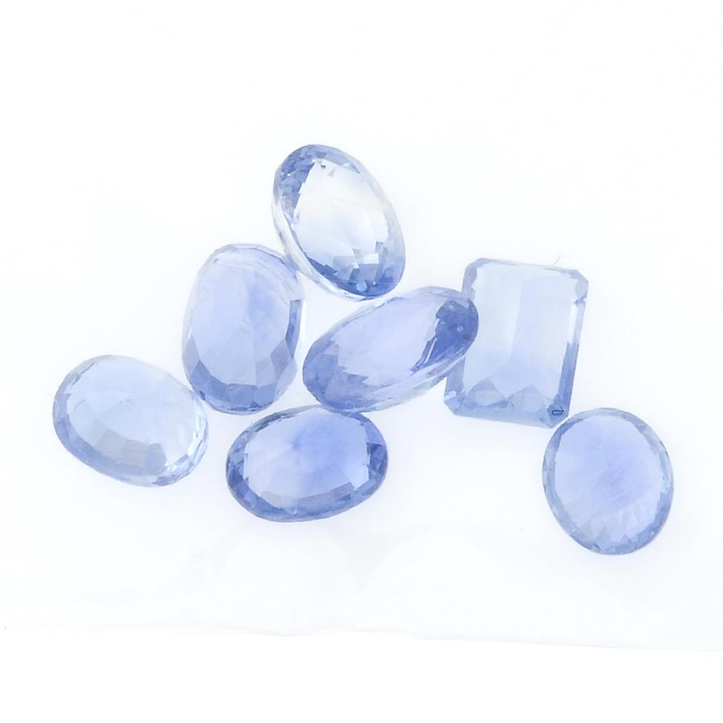 A selection of vari-shape sapphires. - Image 2 of 2