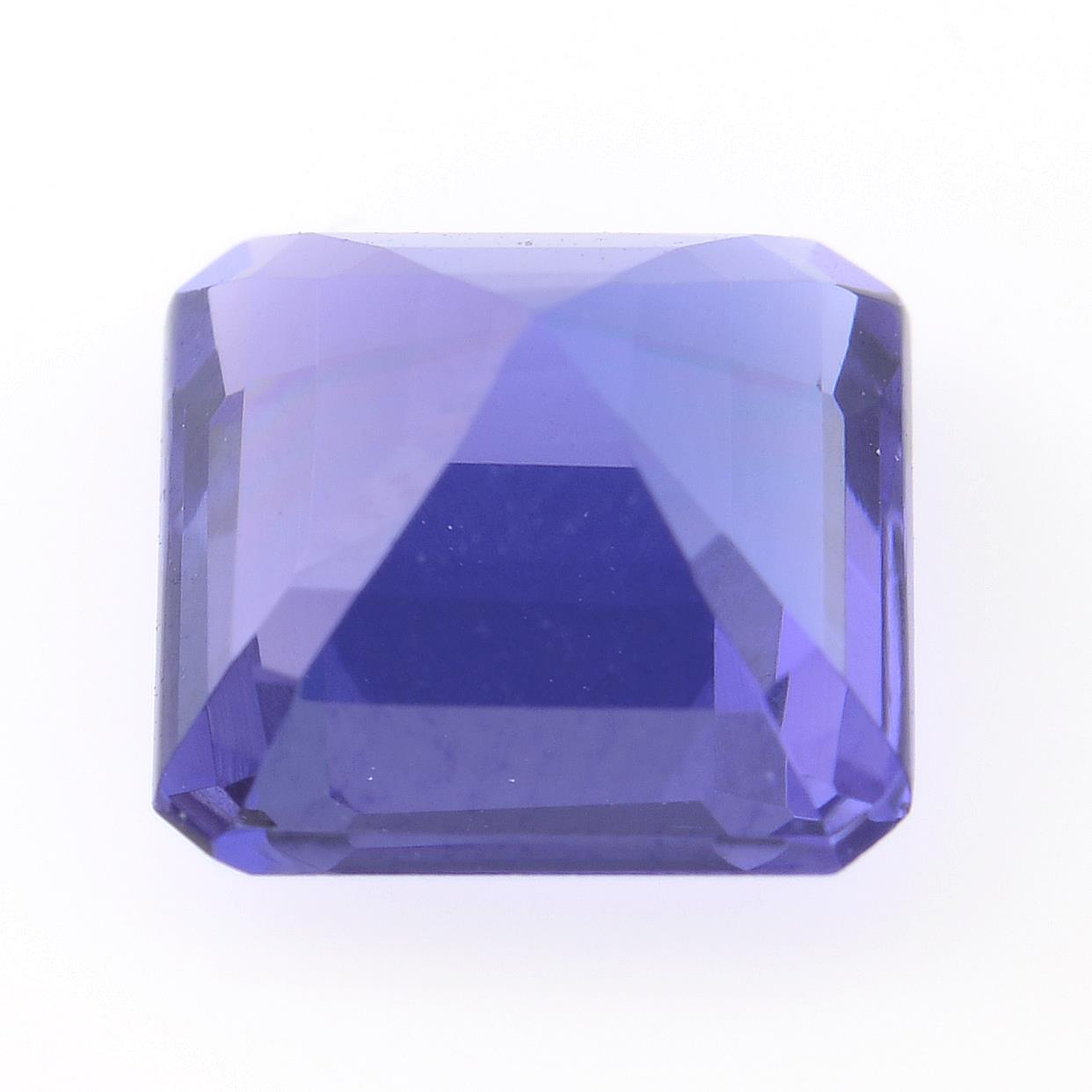A square shape tanzanite weighing 1.77ct. - Image 2 of 2
