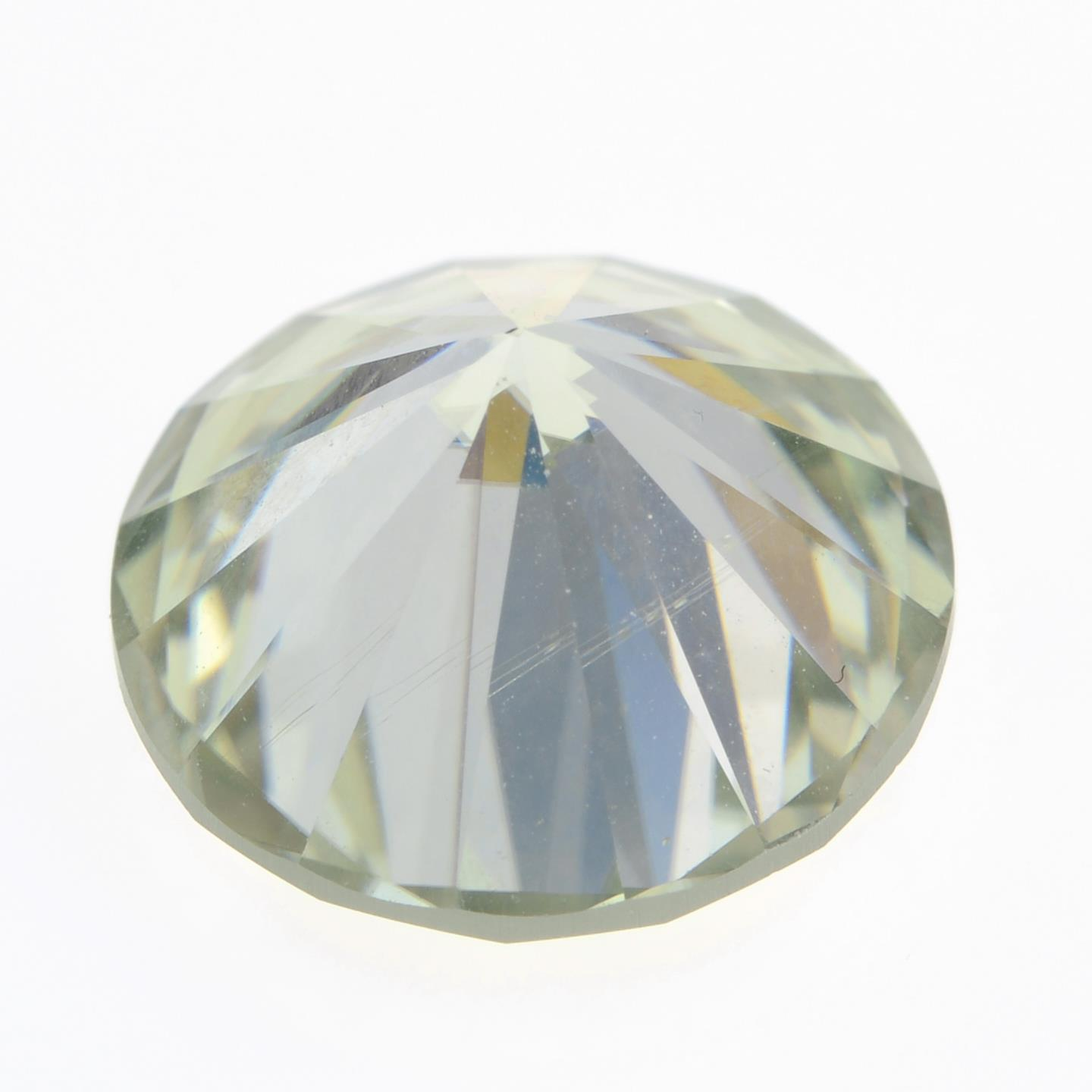 A circular-shape synthetic moissanite, weighing 5.08cts. - Image 2 of 2