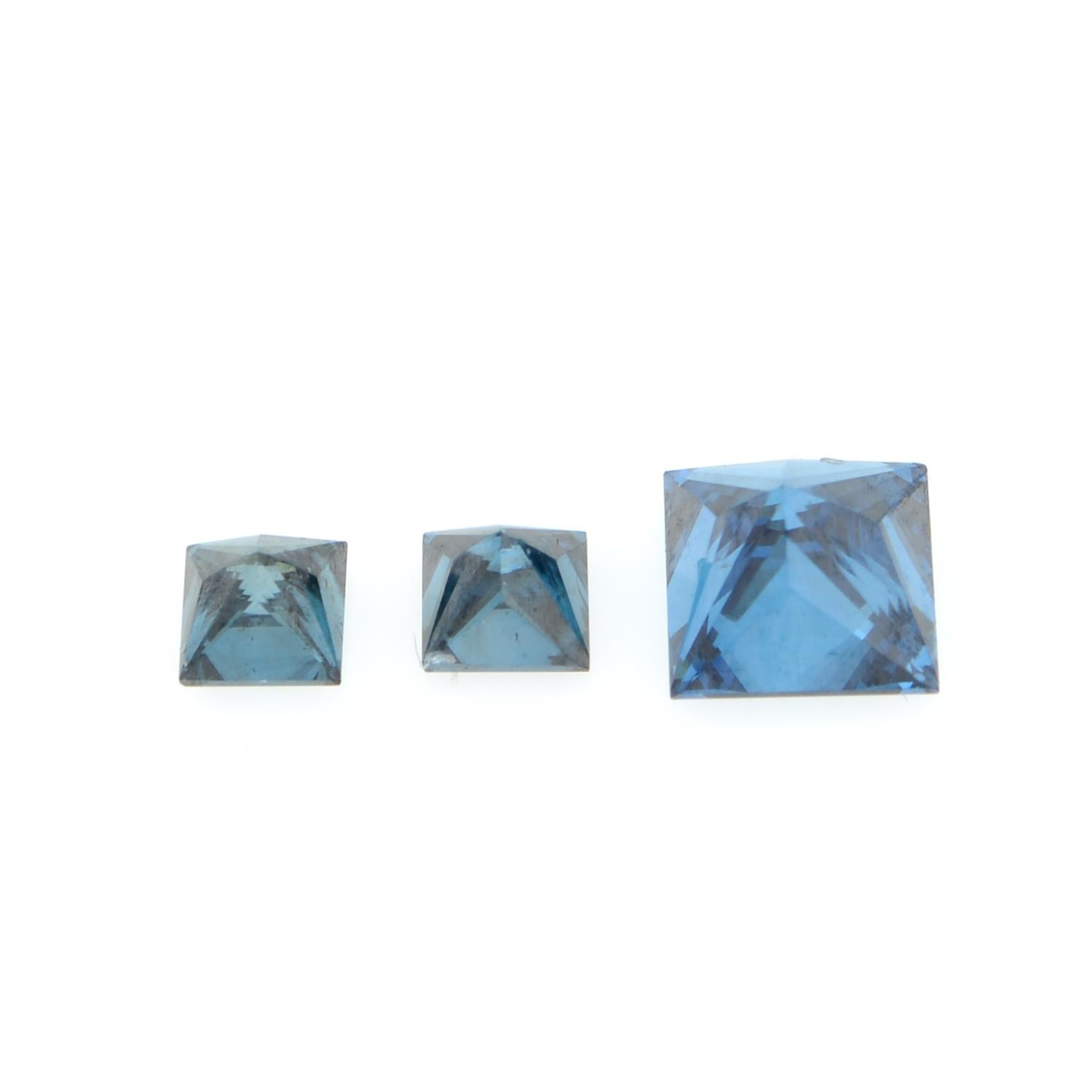 A selection of coloured diamonds, weighing 2.30cts total, Including pink, blue and yellow. - Image 2 of 3