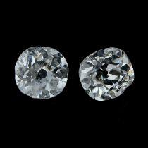 Two old-cut diamonds.