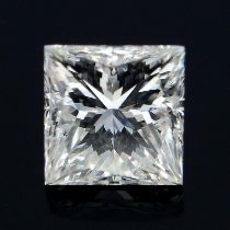 A square shape diamond weighing 0.35ct.