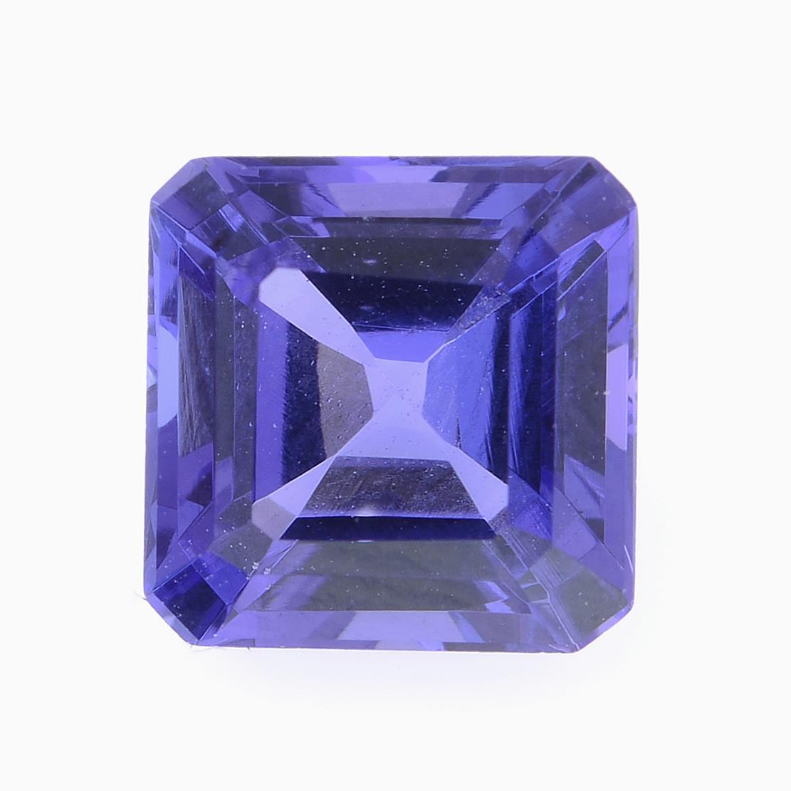 A square shape tanzanite weighing 1.77ct.