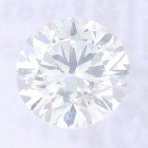A brilliant cut diamond, weighing 0.63ct, measuring 5.48 by 5.51 by 3.37mms.