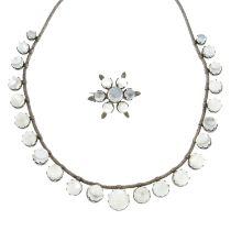 A Victorian moonstone fringe necklace,