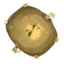 A citrine single-stone ring.Stamped 9ct.Ring size N.