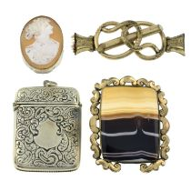 A selection of Victorian and later costume jewellery.