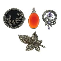 A selection of marcasite jewellery.