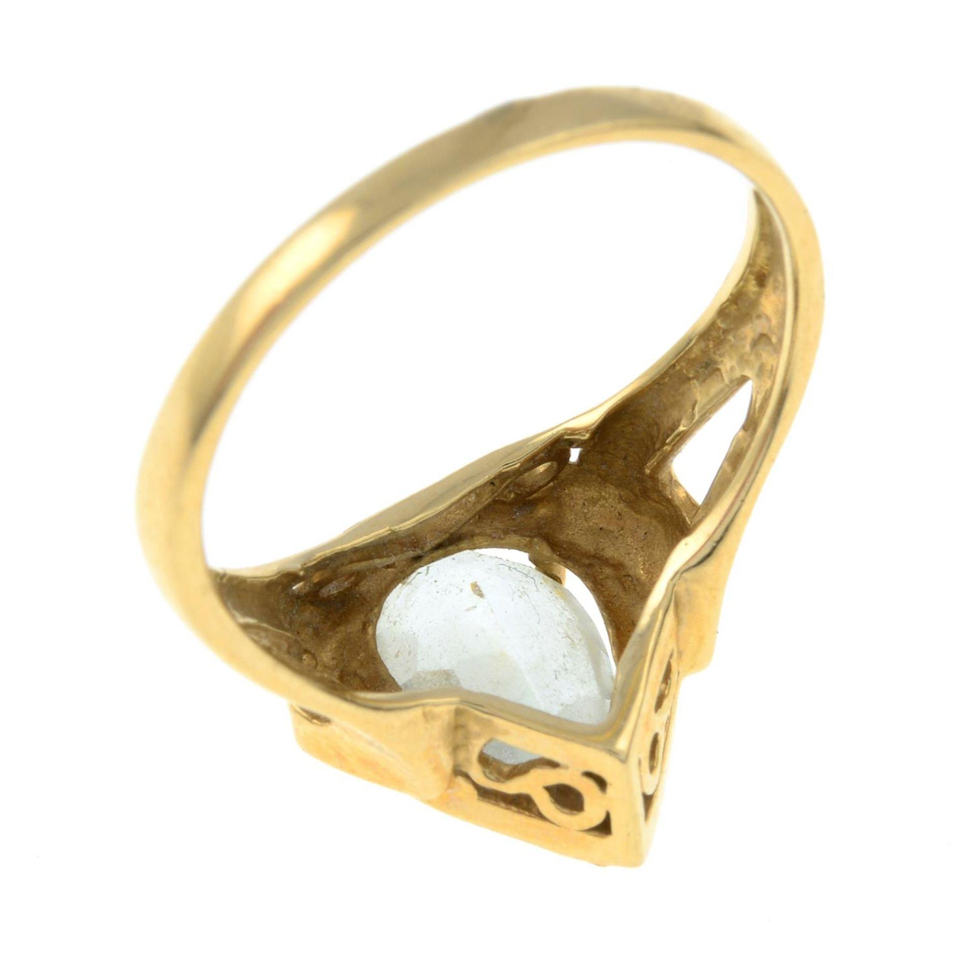 An aquamarine single-stone ring.Aquamarine calculated weight 1.70cts, - Bild 3 aus 3