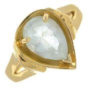 An aquamarine single-stone ring.Aquamarine calculated weight 1.70cts,